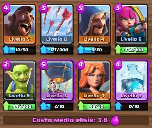 Deck arena 5 combo mongolfiera domatore supercell for Deck arene 5 miroir