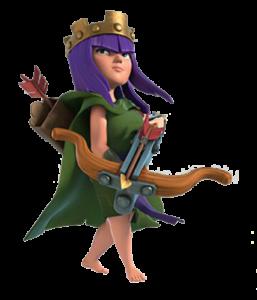regina degli arcieri su clash of clans