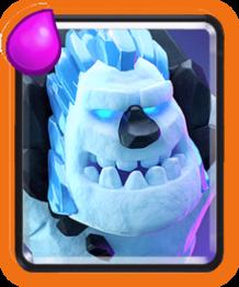 golem del ghiaccio clash royale wiki