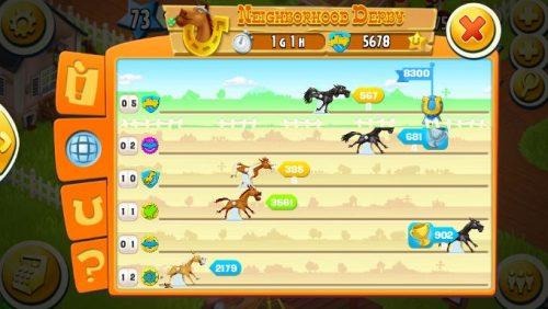 Segui l'avanzamento dei cavalli!