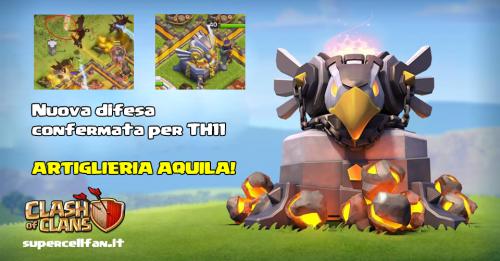 artiglieria aquila clash of clans 2