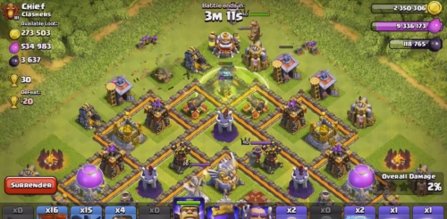 gameplay th11 artiglieria aquila aggiornamento clash of clans 3