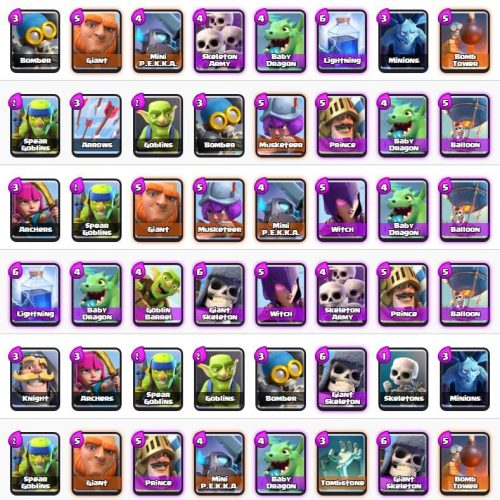 deck arena 2 clash royale