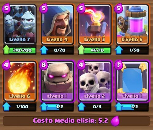 Deck arena 6 golem e stregone supercell italia blog for Deck pekka arene 6