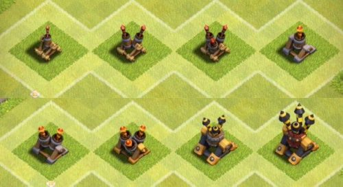 difese aeree nuove clash of clans
