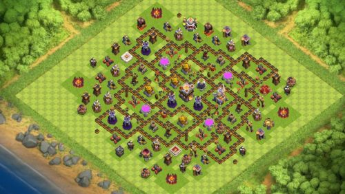 layout anti valchiria clash of clans th11