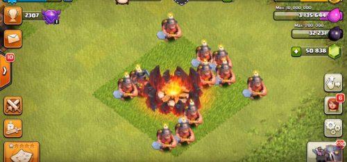 minatore accampamento clash of clans