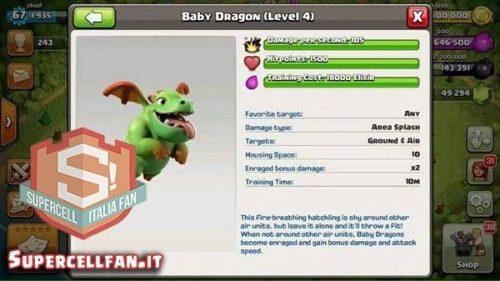 nuova truppa cucciolo drago clash of clans