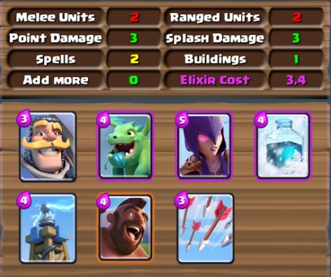 deck builder per mazzo perfetto su clash royale