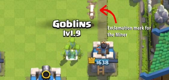 dirottare minatore su clash royale