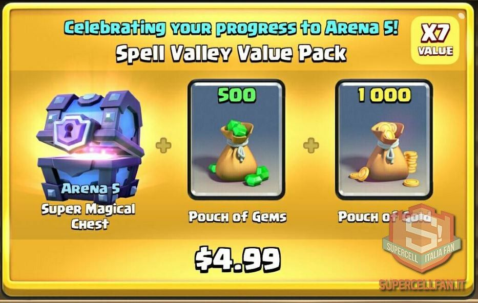 Offerte Speciali di Clash Royale arene (4)