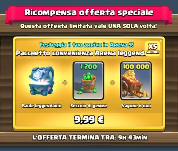 offerta speciale clash royale-min