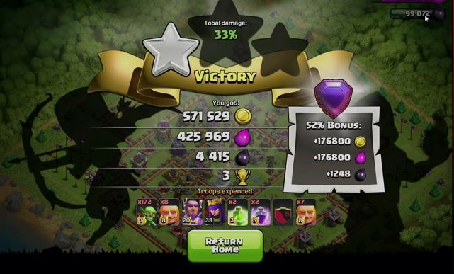 goblin gnife bottino di clash of clans