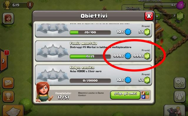 modifica file clash of clans hack gemme