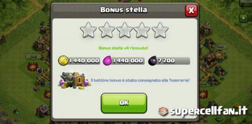 bonus stella raddoppiato trucchi bug clash of clans